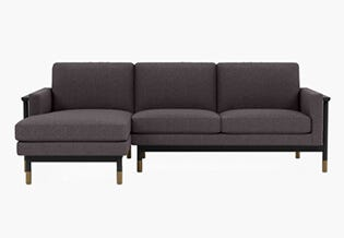 Interior Define: Jason Wu Sectional · Domino Static Weave with matte black frame